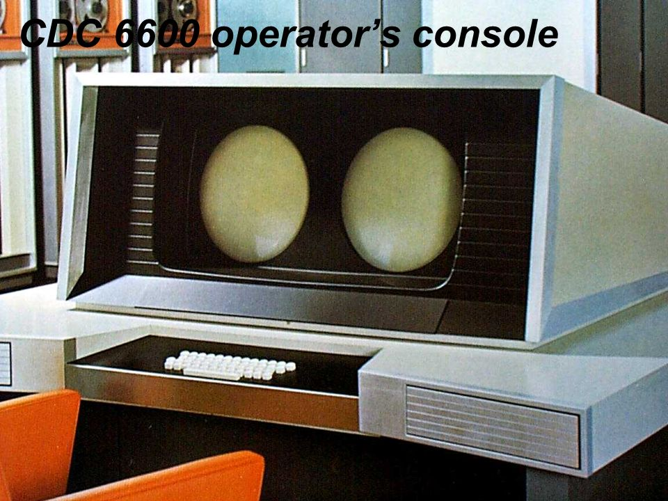 CDC 6600 operator's console