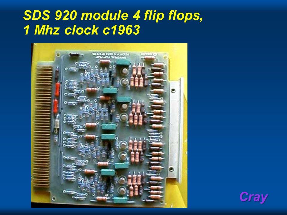 SDS 920 module 4 flip flops, 1 Mhz clock c1963