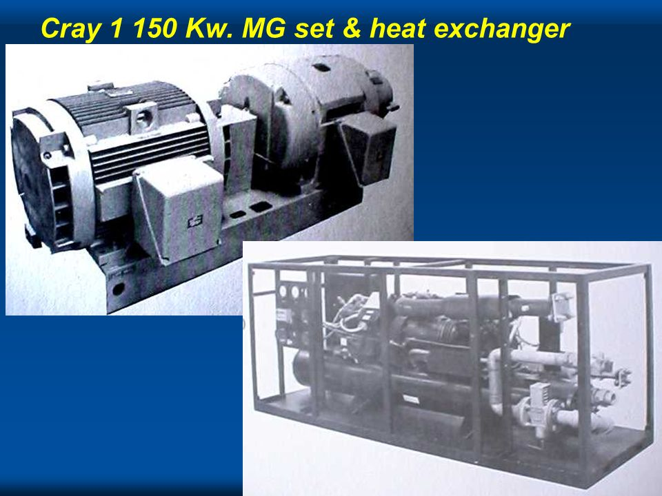 Cray 1 150 Kw. MG set & heat exchanger