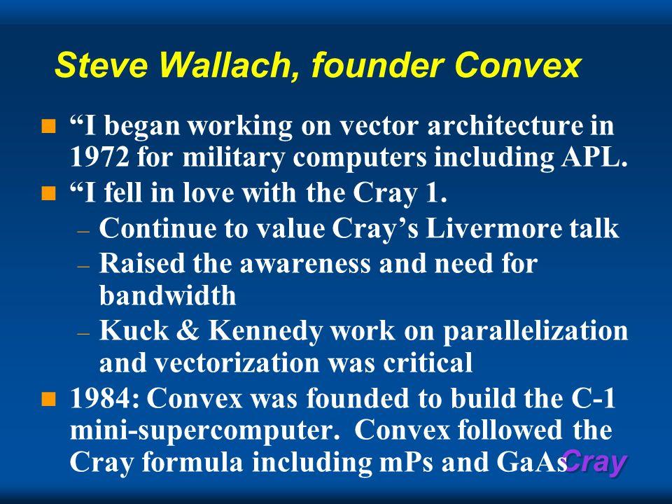 Steve Wallach, founder Convex
