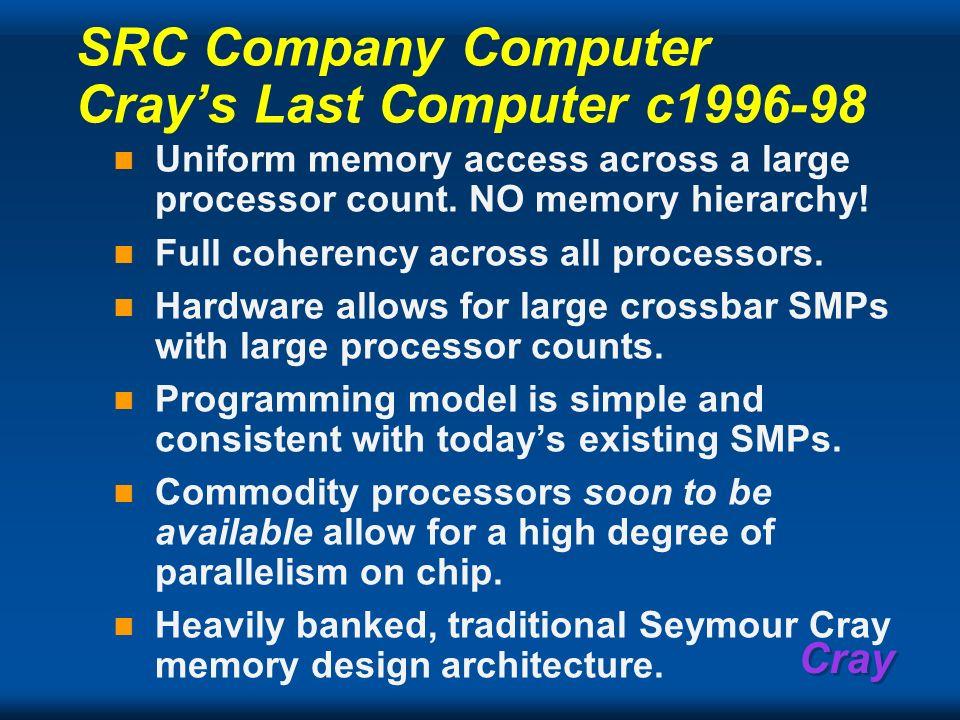 SRC Company Computer Cray's Last Computer c1996-98