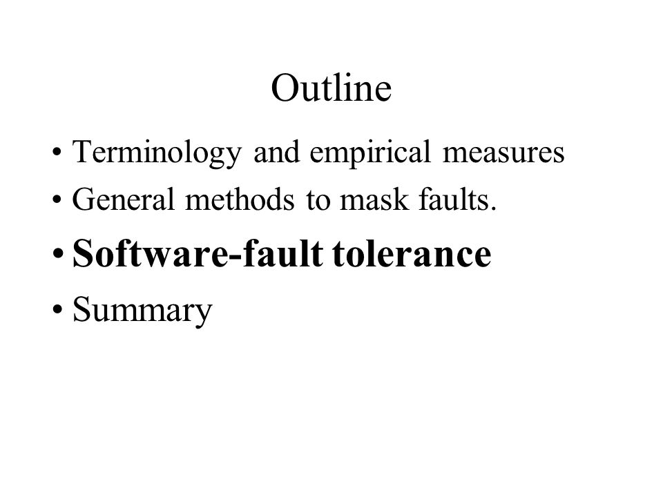 Software-fault tolerance