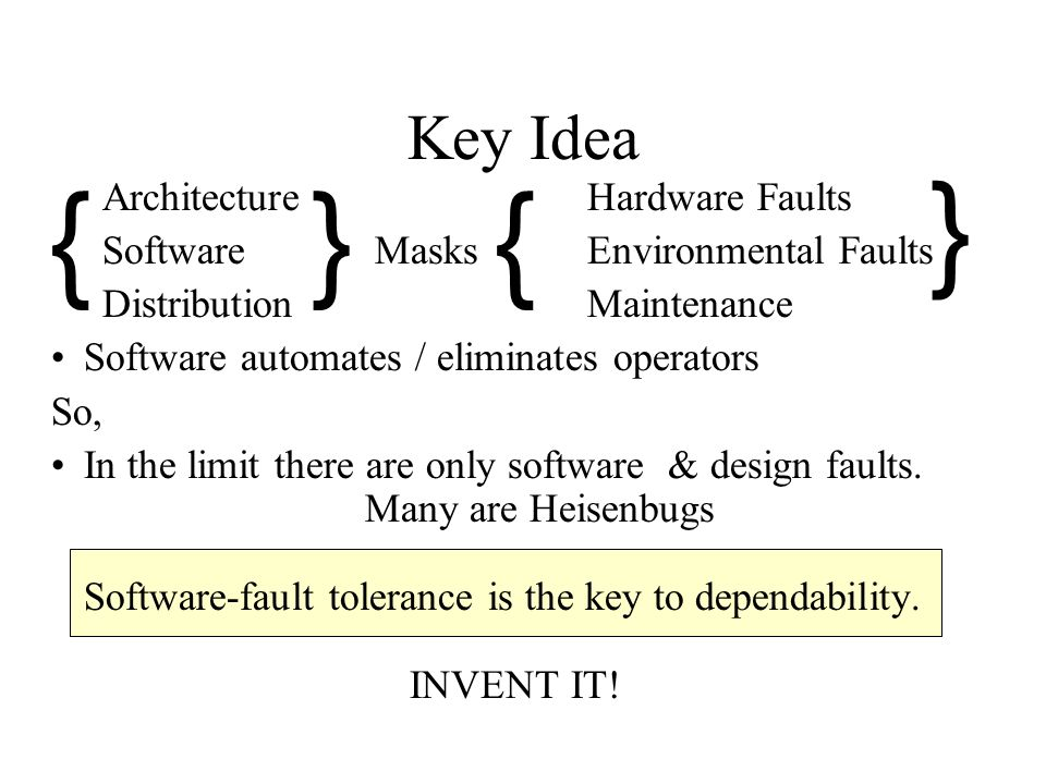 } { } { Key Idea Architecture Hardware Faults