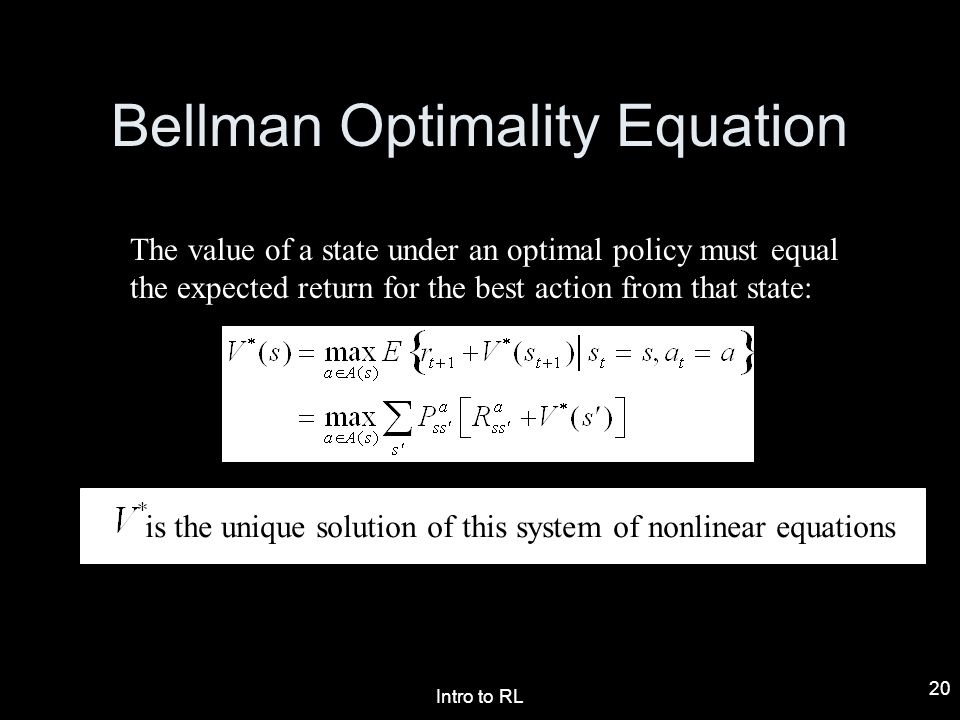 Bellman Optimality Equation