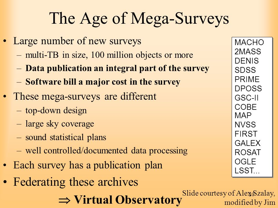 The Age of Mega-Surveys