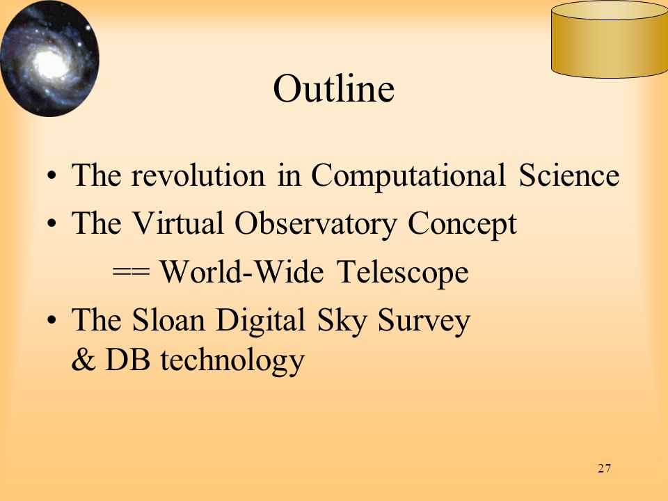 Outline The revolution in Computational Science
