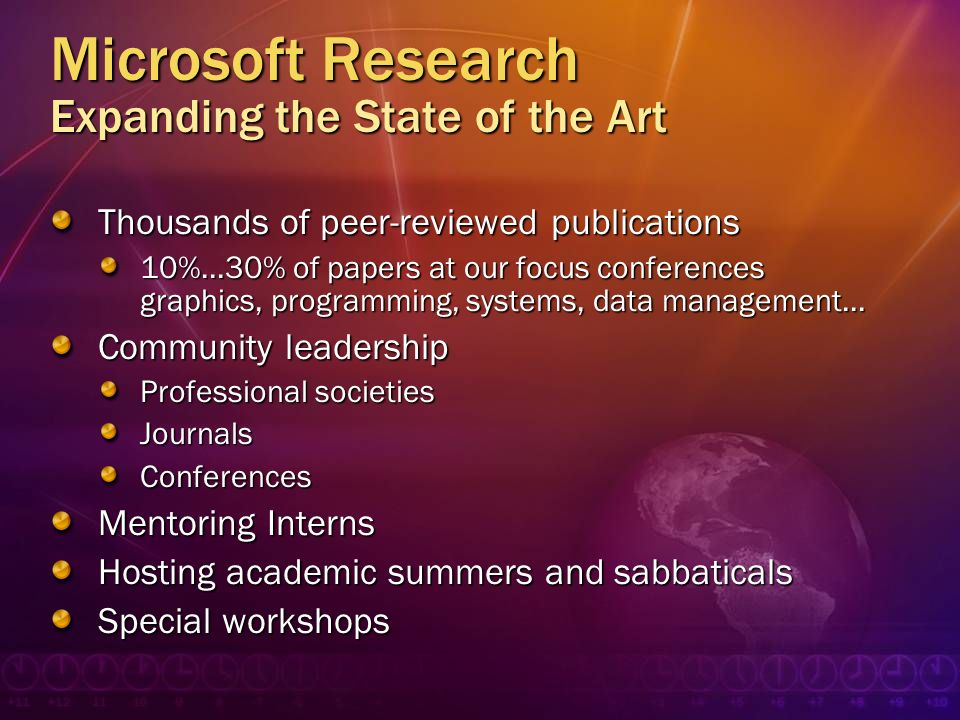 Microsoft Research Expanding the State of the Art