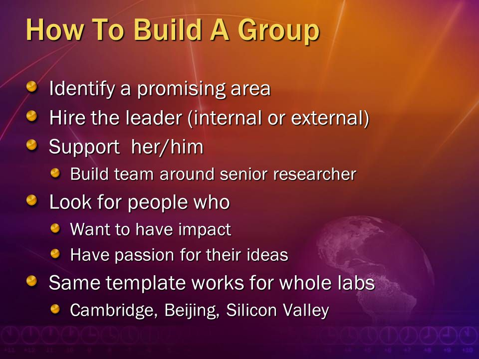 How To Build A Group Identify a promising area