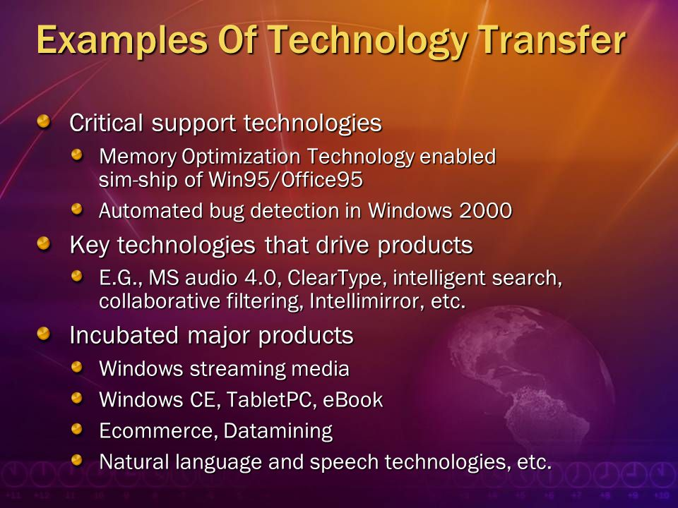 Examples Of Technology Transfer