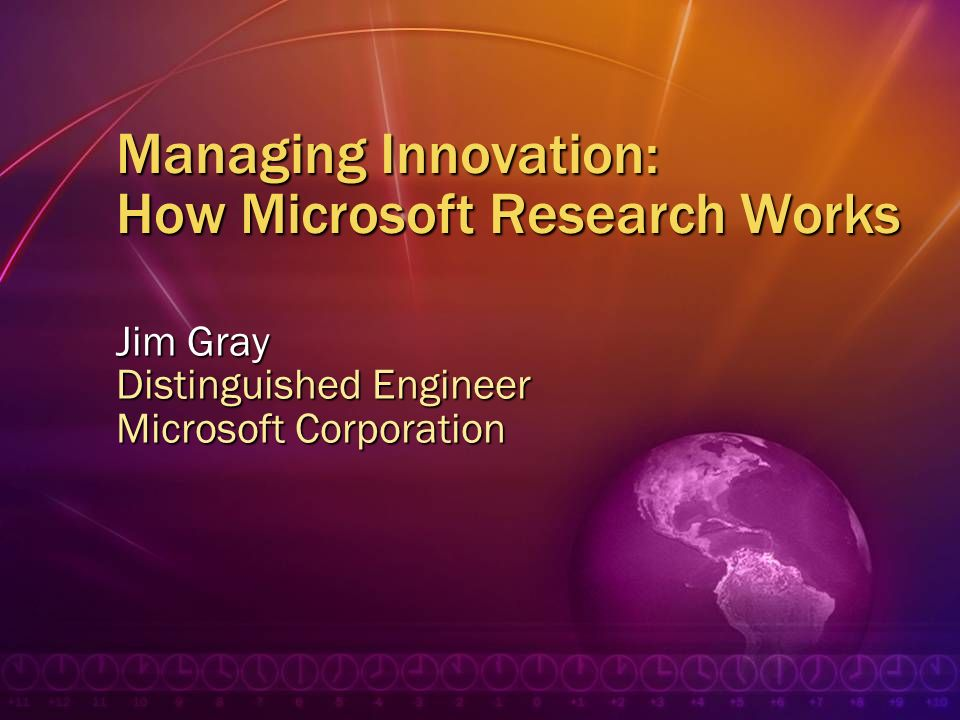 Managing Innovation: How Microsoft Research Works