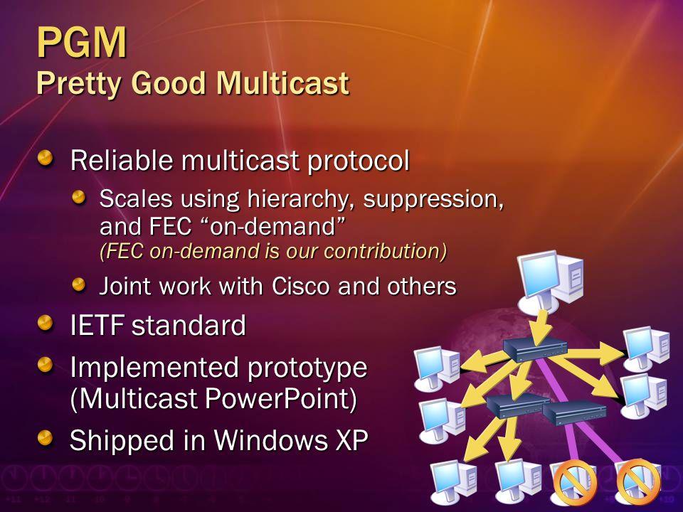 PGM Pretty Good Multicast