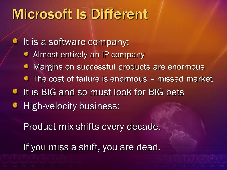 Microsoft Is Different