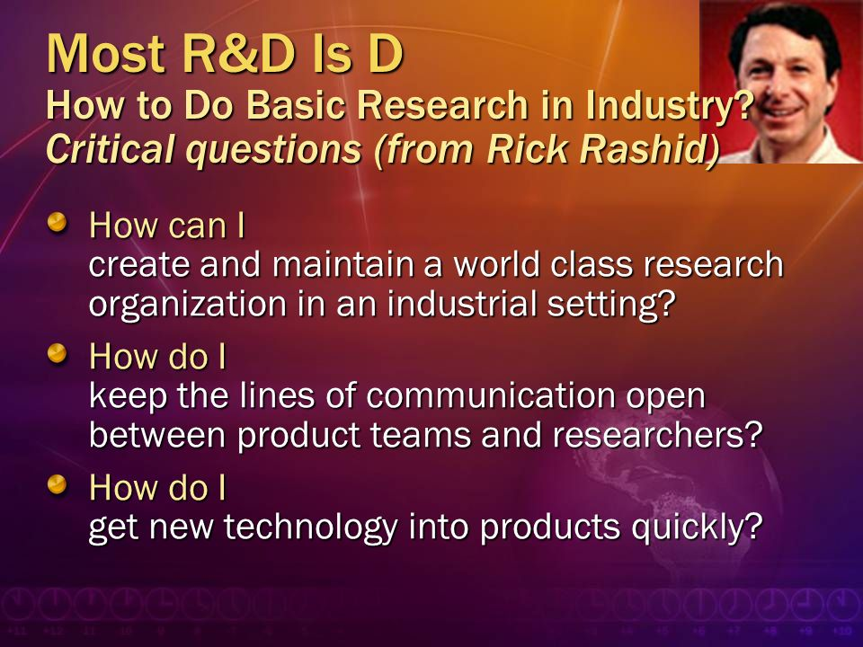 Most R&D Is D How to Do Basic Research in Industry