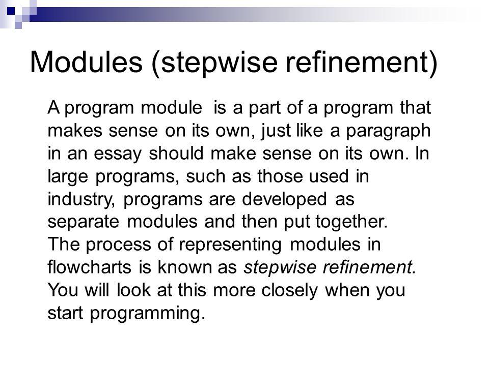 50 modules stepwise refinement - Program Flowchart Software