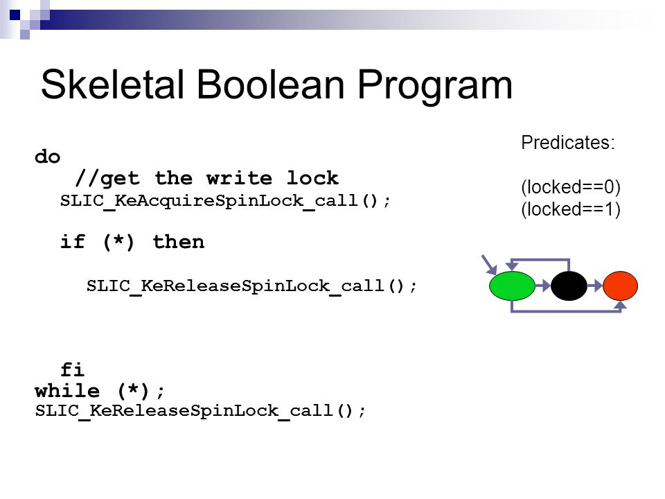 Skeletal Boolean Program