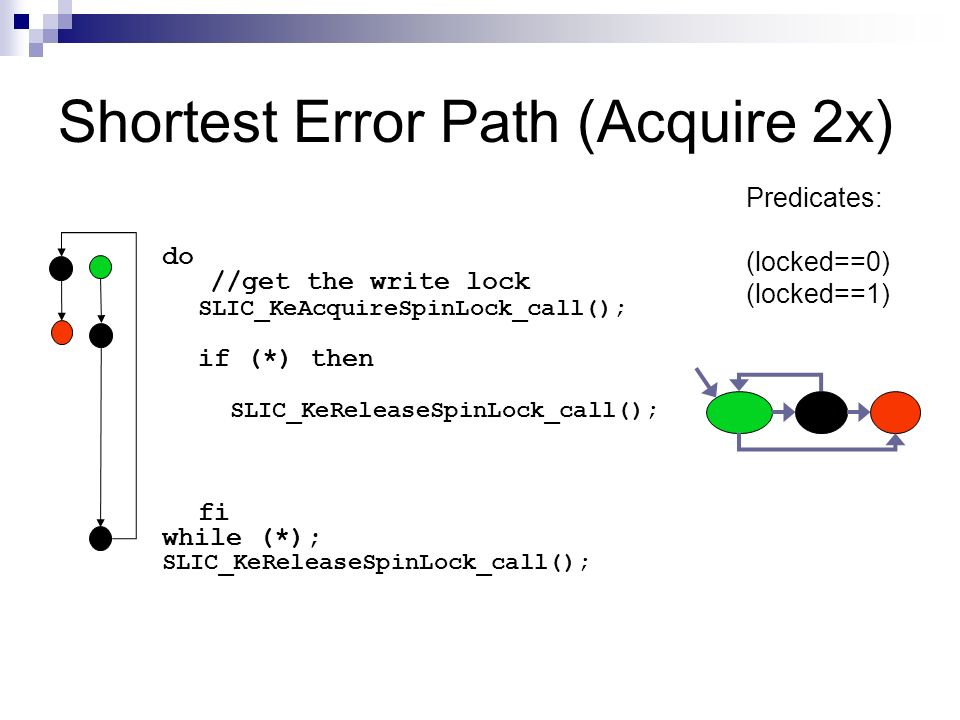 Shortest Error Path (Acquire 2x)