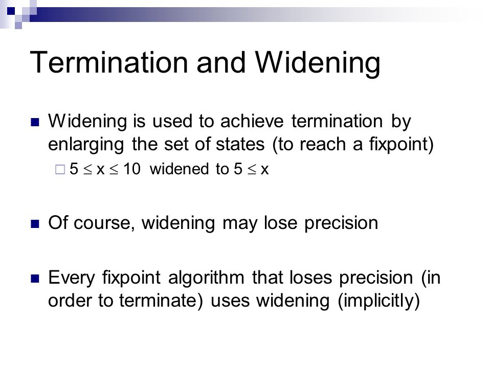 Termination and Widening