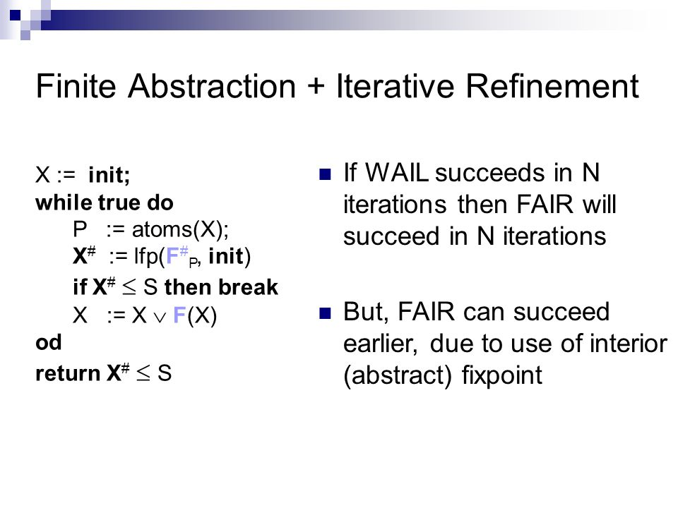 Finite Abstraction + Iterative Refinement