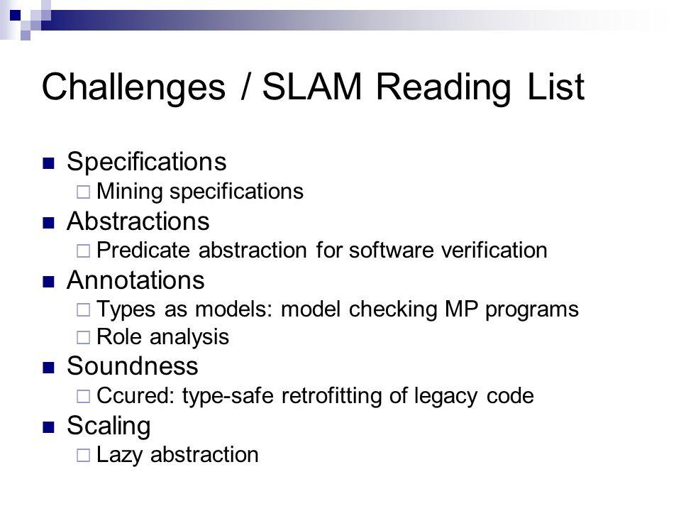 Challenges / SLAM Reading List