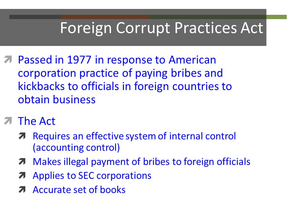 foreign corrupt practices 28 cfr part 80 - foreign corrupt practices act opinion procedure lii has no control over and does not endorse any external internet site that contains links to or references lii us code toolbox.
