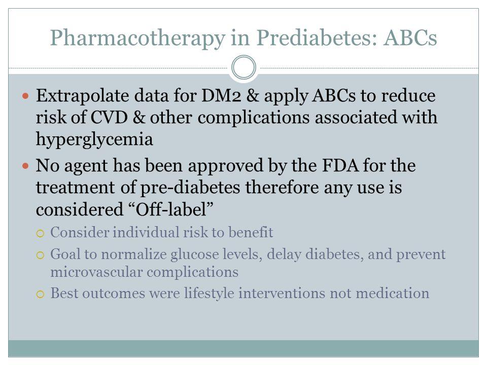 Medication for Prediabetes?