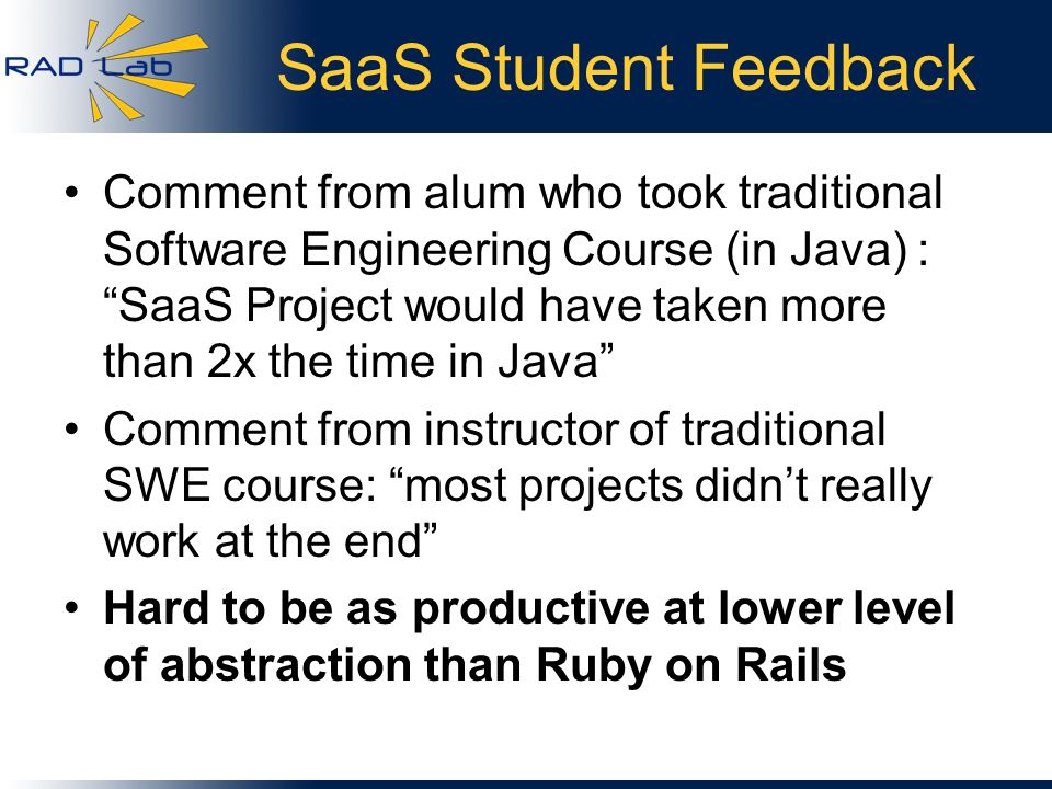 SaaS Student Feedback