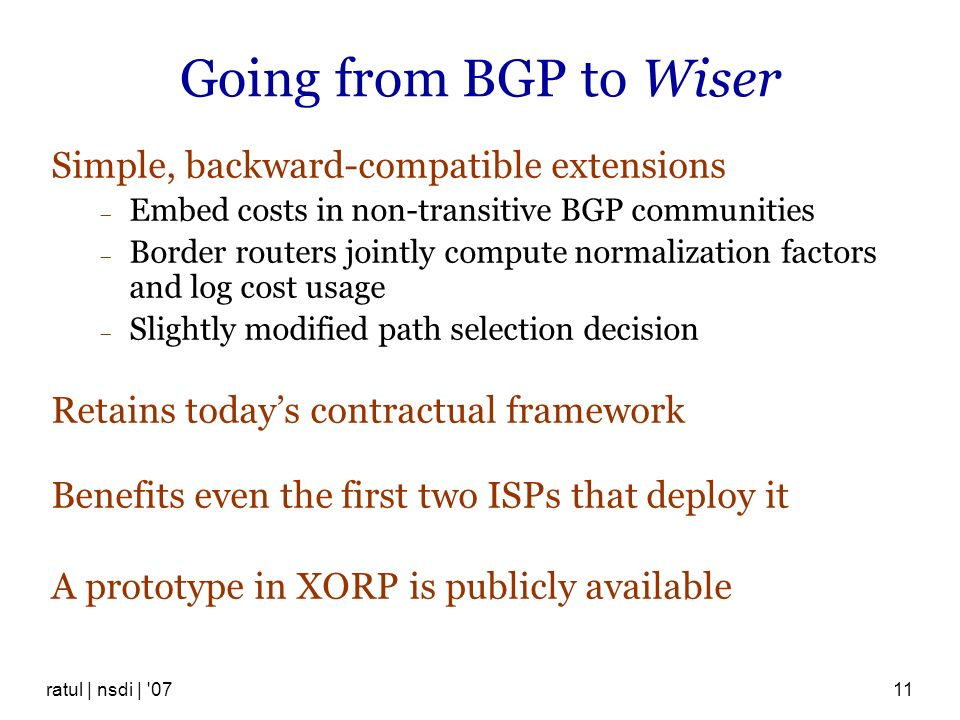 Going from BGP to Wiser Simple, backward-compatible extensions