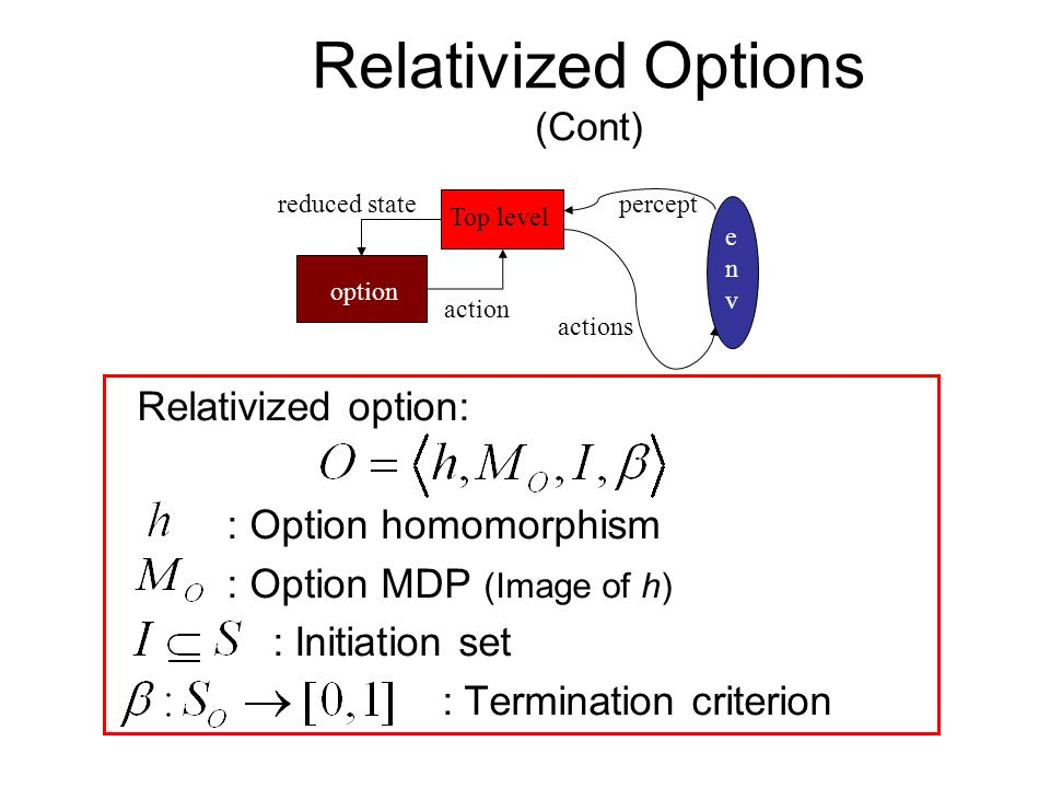 Relativized Options (Cont)
