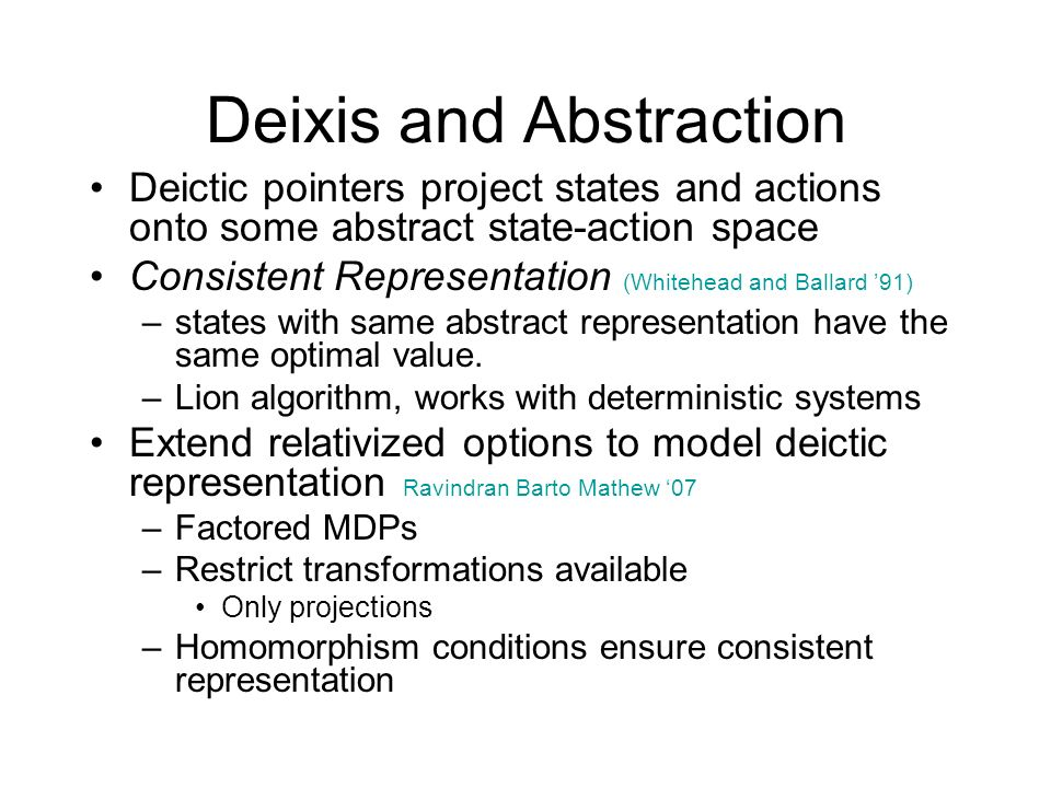 Deixis and Abstraction
