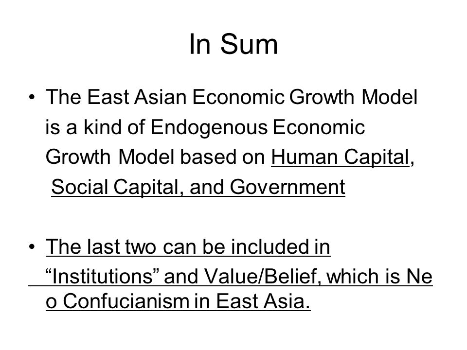 a paper on confucianism and japanese growth Read this essay on how has confucianism influenced modern economic  how has confucianism influenced modern economic development in  the needs of the japanese.