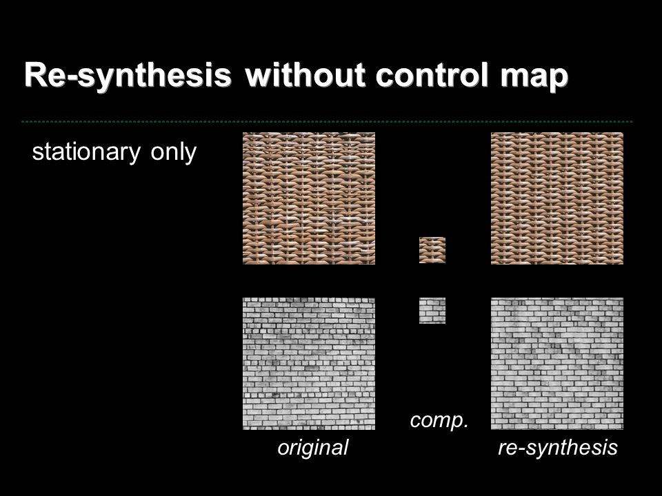 Re-synthesis without control map