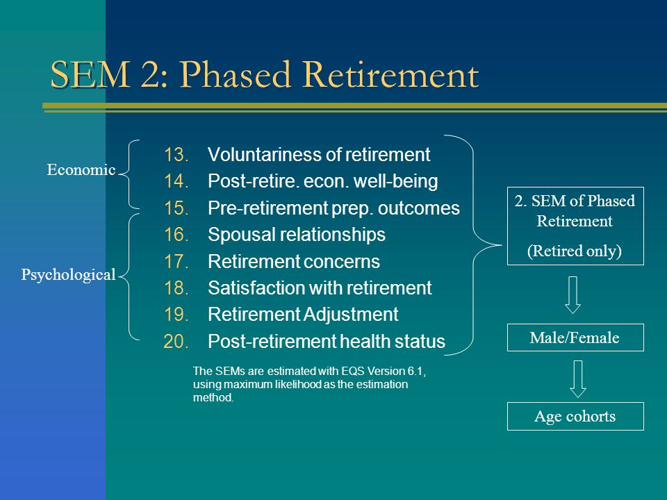 SEM 2: Phased Retirement