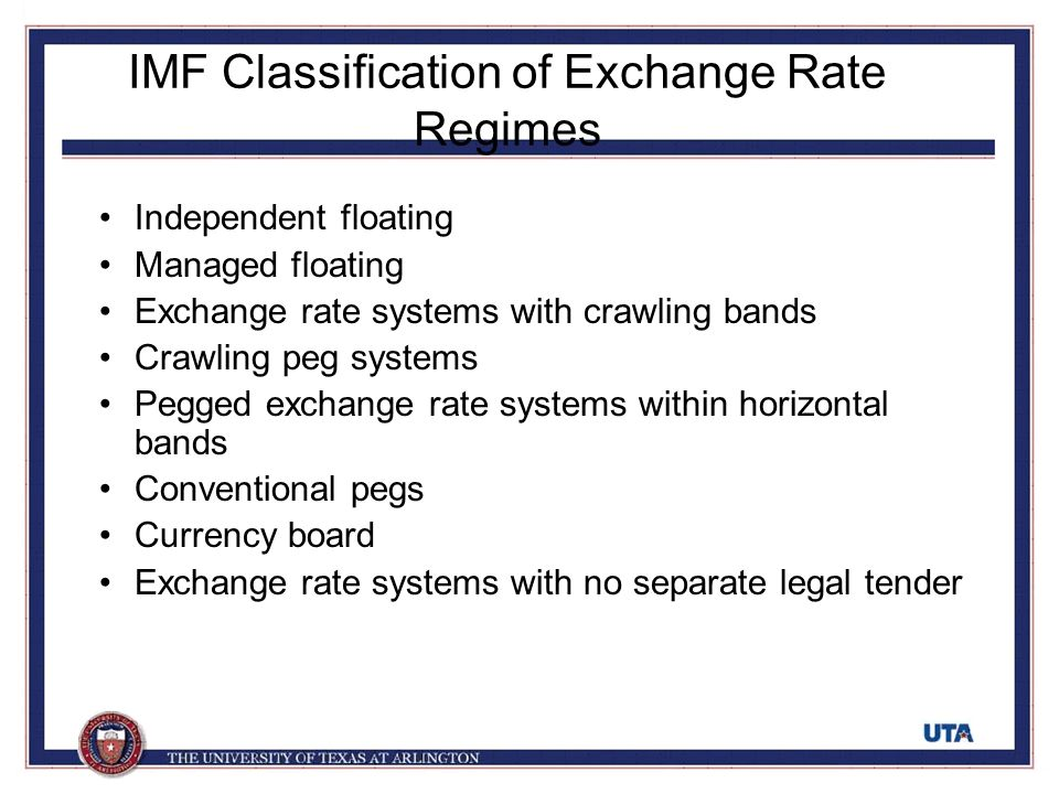the floating exchange rate system in the united kingdom In a managed floating exchange-rate system,  the central bank of the united kingdom could prevent the pound from appreciating by:.