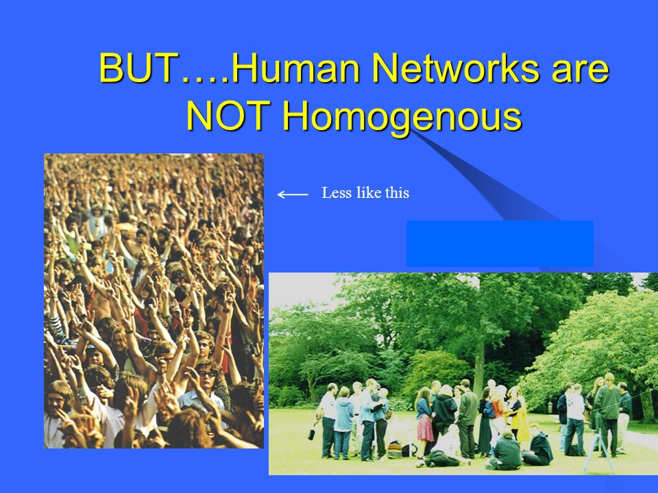 BUT….Human Networks are NOT Homogenous