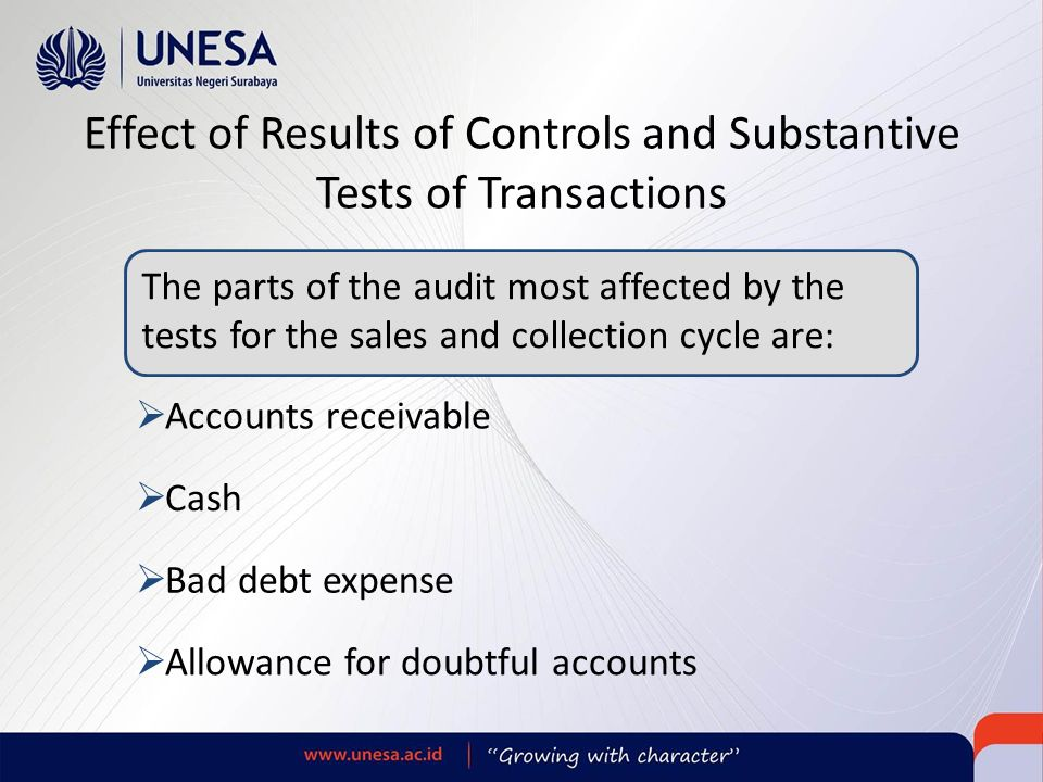 substantive tests of transactions Substantive tests of transactions and account balances edited - download as powerpoint presentation (ppt), pdf file (pdf), text file (txt) or.