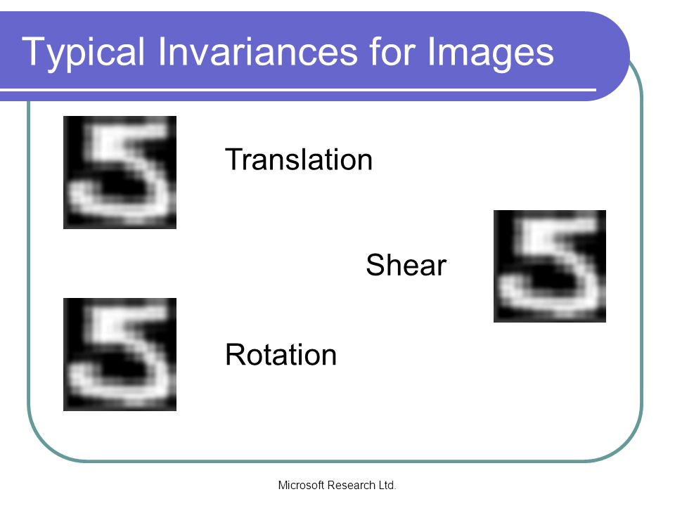 Typical Invariances for Images