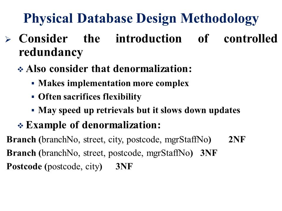 denormalization in database with example pdf