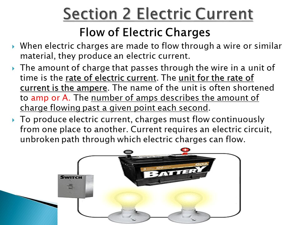 Section 2 Electric Current