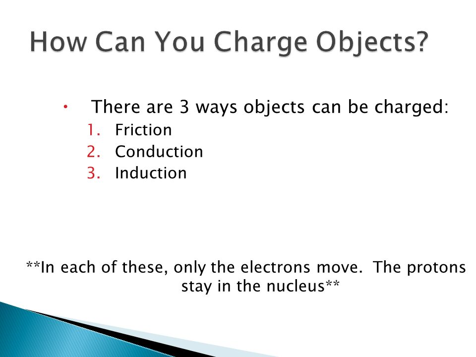 How Can You Charge Objects