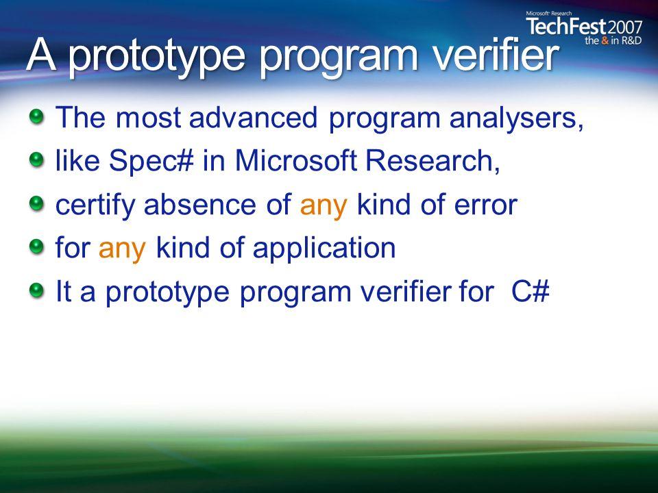 A prototype program verifier