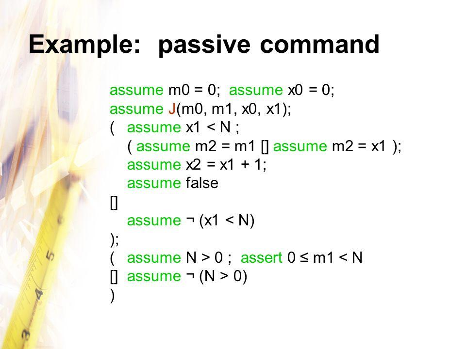 Example: passive command