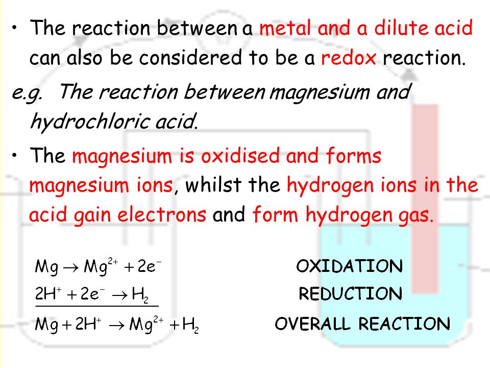 Oxidation reduction reaction of magnesium essay