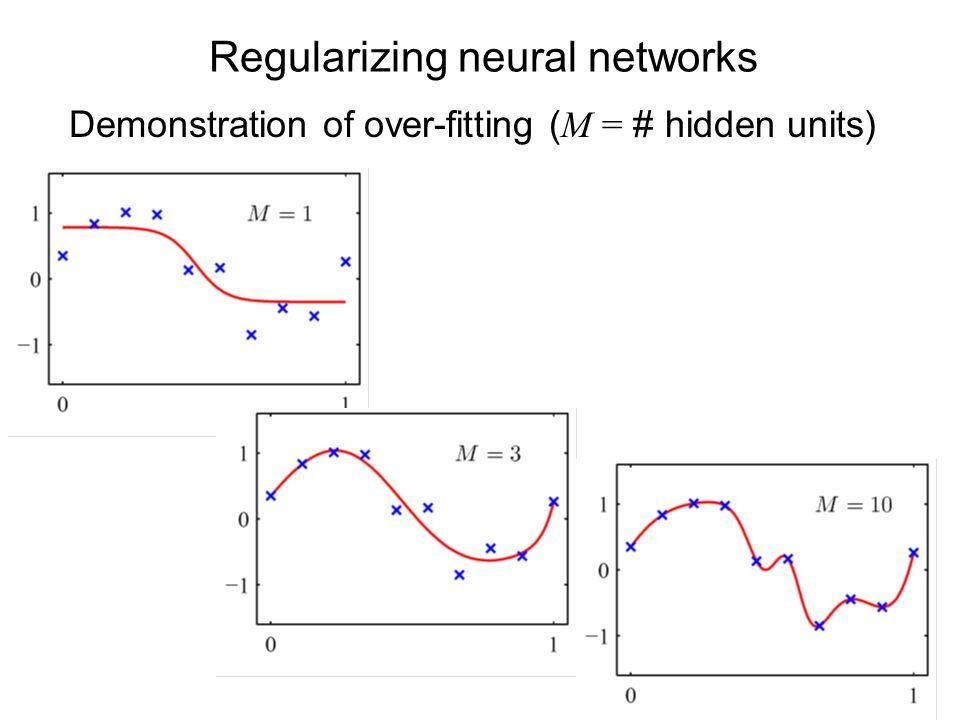 Regularizing neural networks