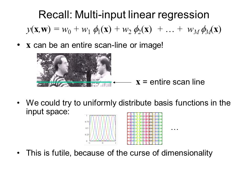 Recall: Multi-input linear regression