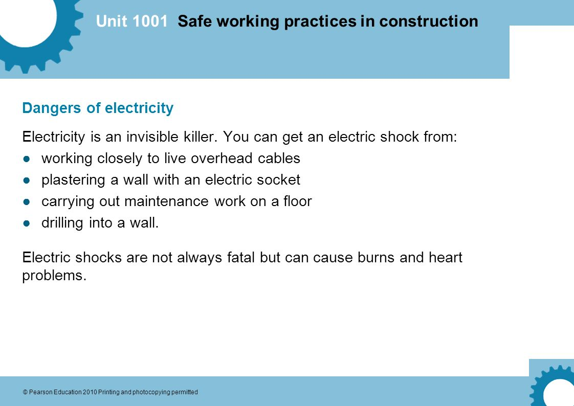 know about working with electricity
