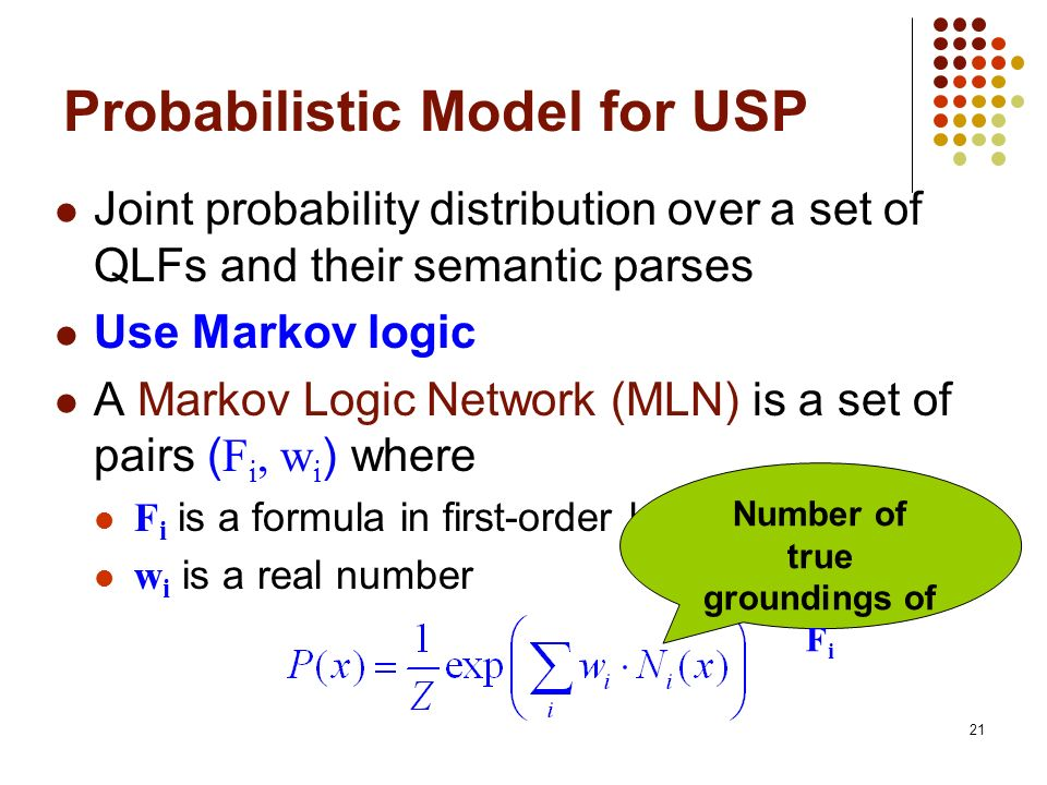 Probabilistic Model for USP