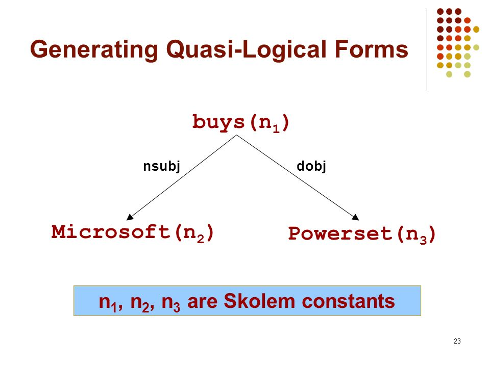 Generating Quasi-Logical Forms