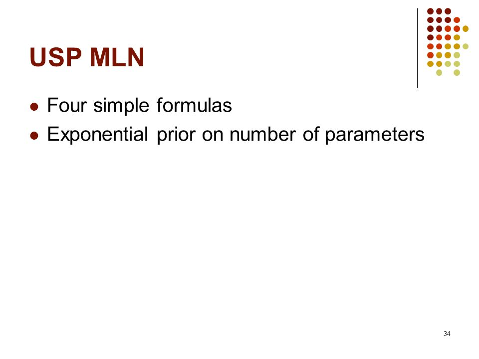 USP MLN Four simple formulas Exponential prior on number of parameters