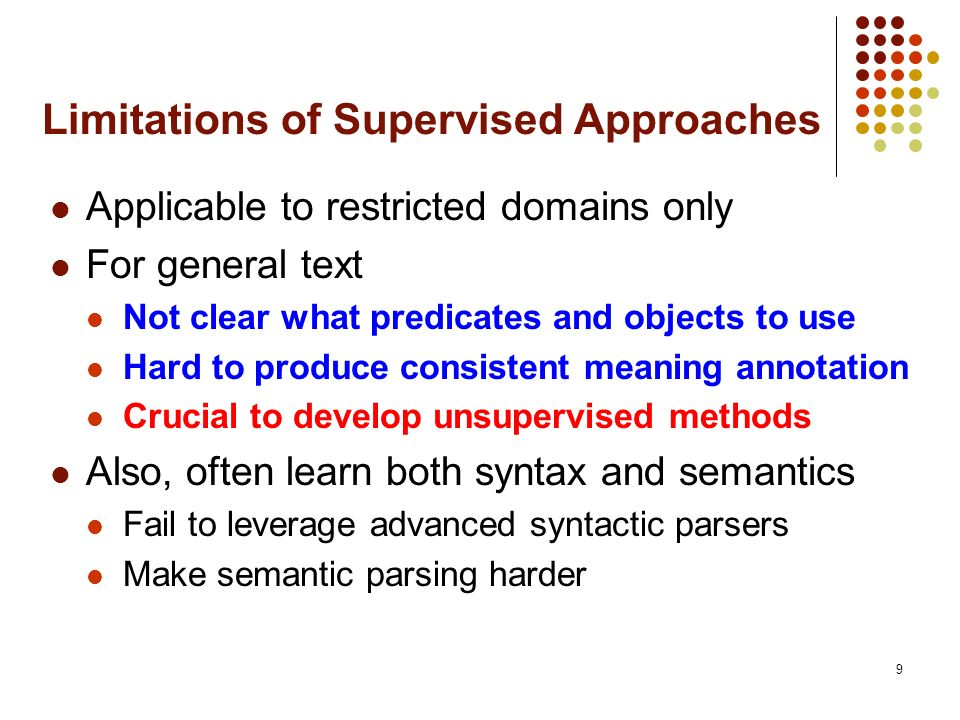Limitations of Supervised Approaches