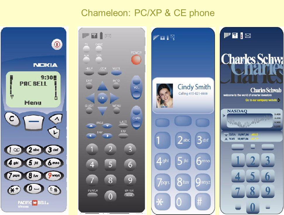 Chameleon: PC/XP & CE phone